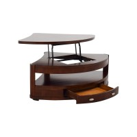 90% OFF - Triangular Rounded Lift-top Coffee Table / Tables