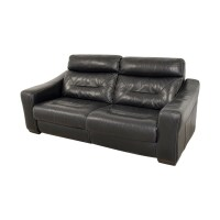 54% OFF - Macy's Macy's Black Leather Recliner Sofa / Chairs