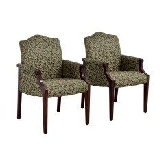 Green Upholstered Dining Chairs Felt Chair Pads For Hardwood Floors 90 Off Paoli Leaf Accent