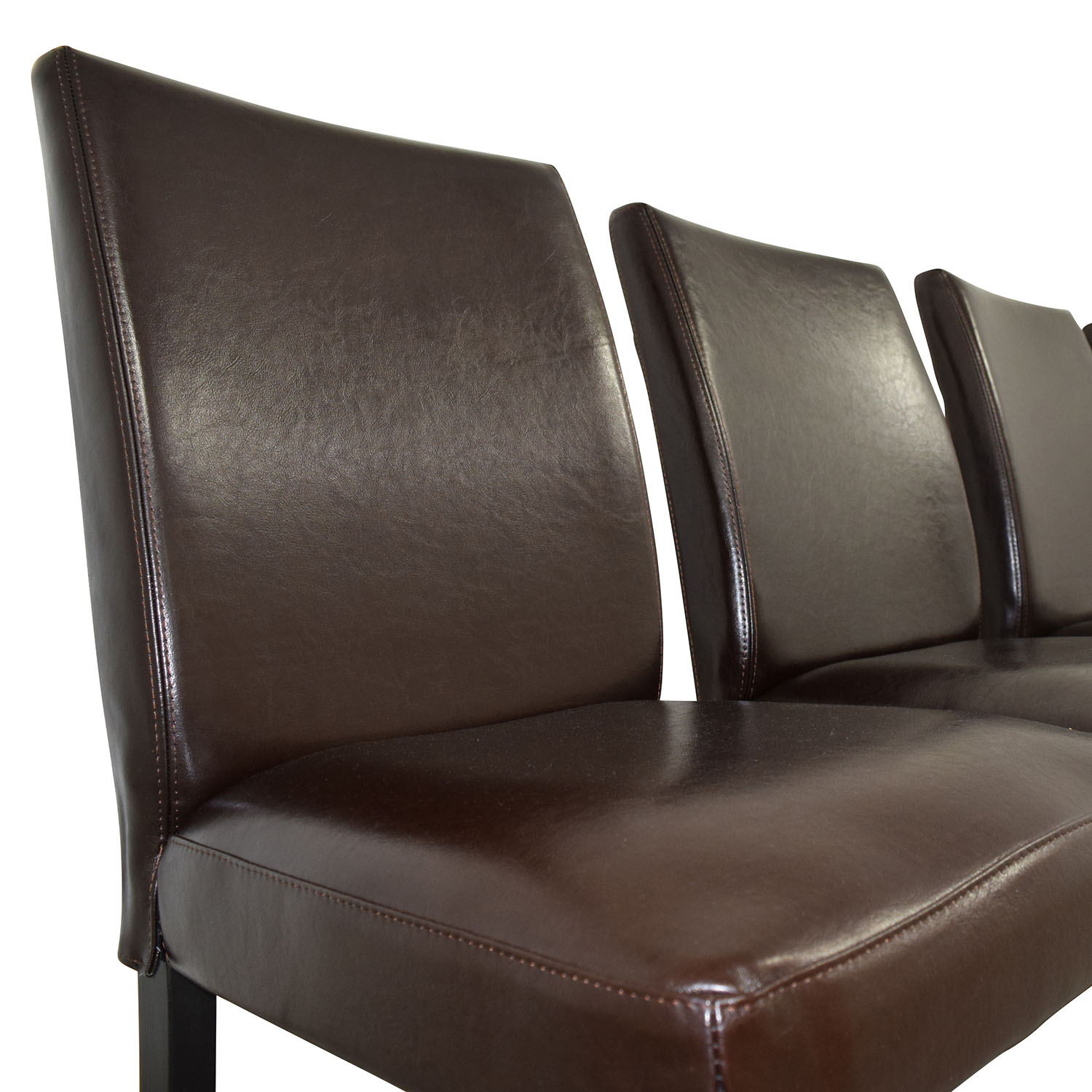 chocolate leather dining chairs white french chair 69 off ikea brown