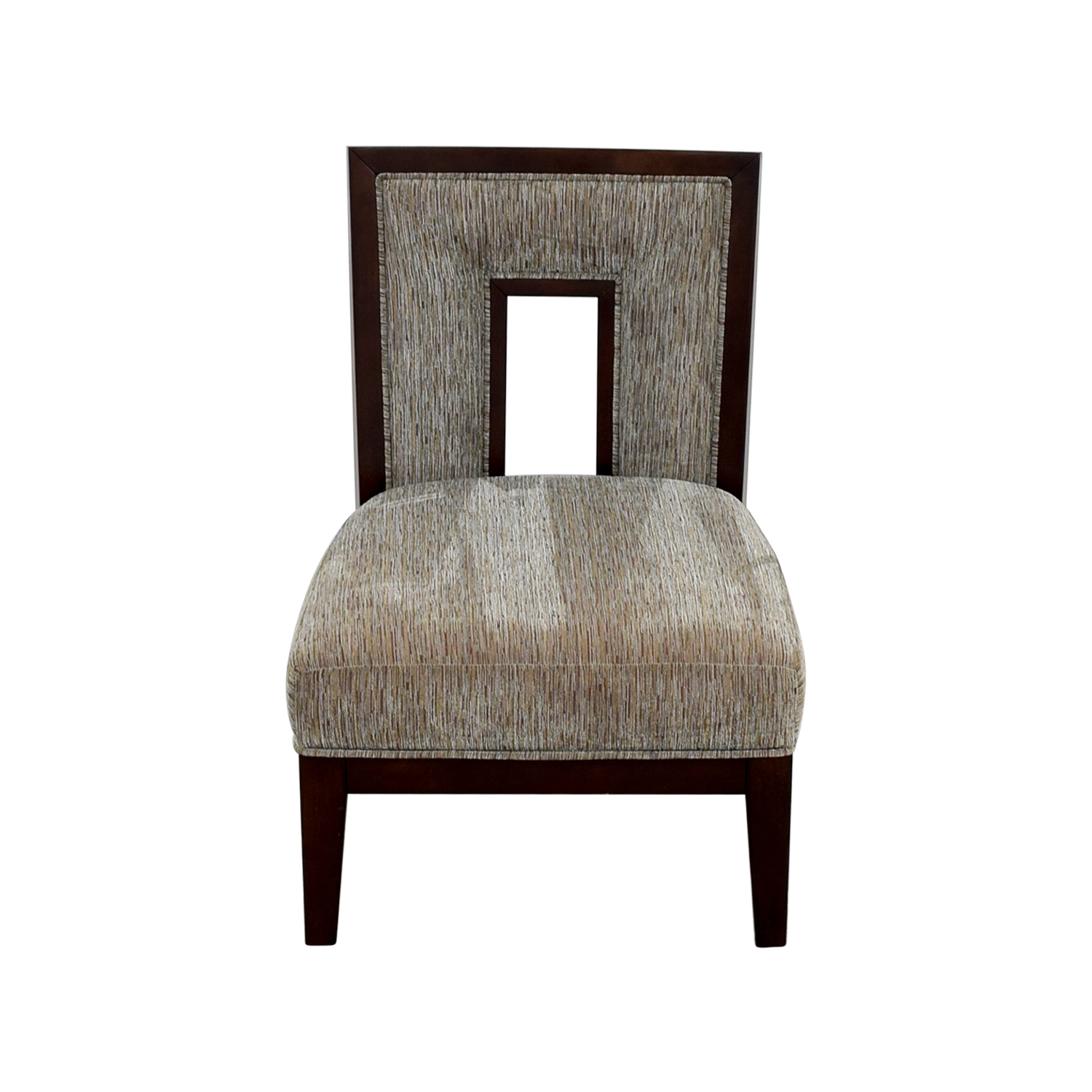 71 OFF  Grey MultiColored Cutout Back Accent Chair