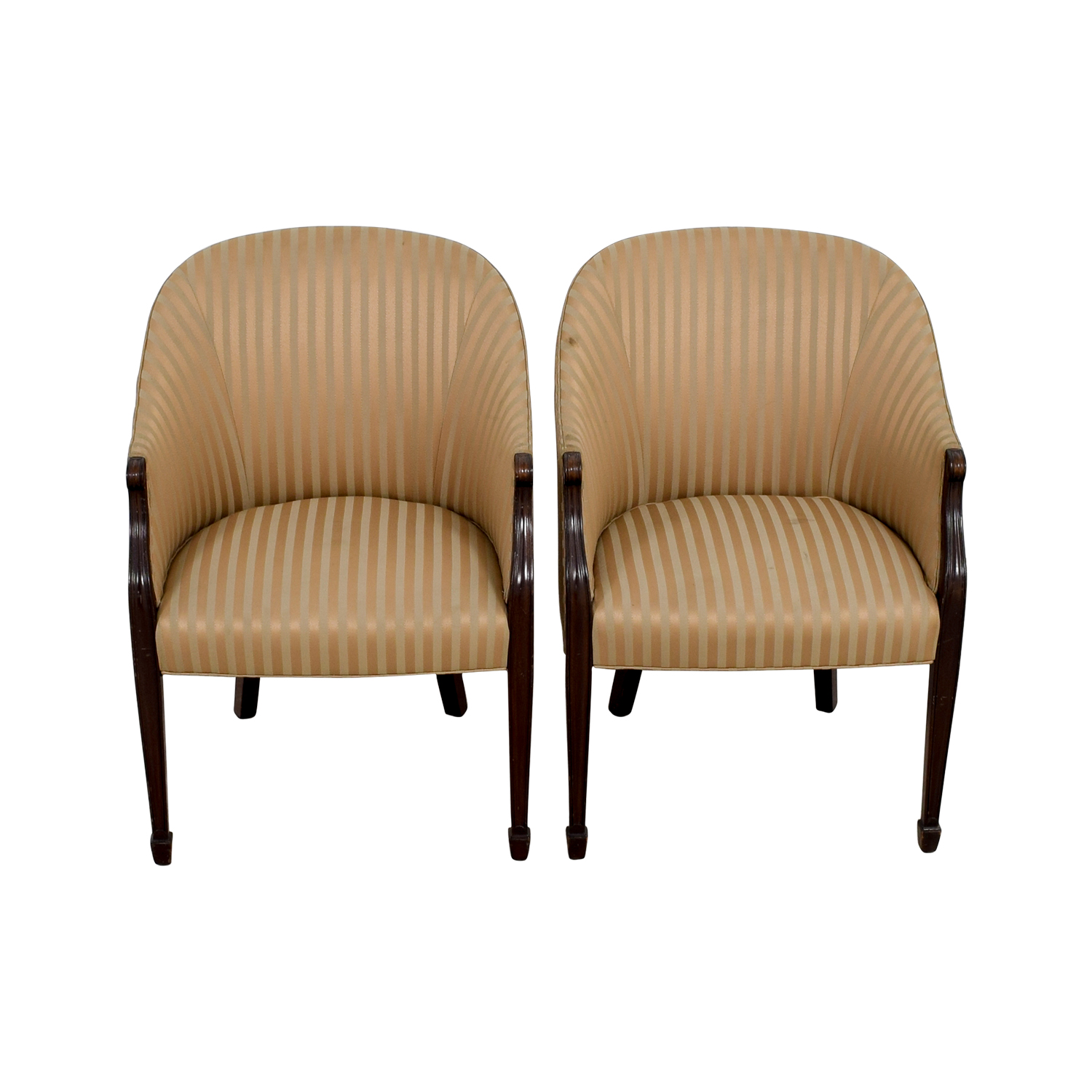 Gold Accent Chairs 90 Off Paoli Paoli Gold Striped Accent Chairs Chairs