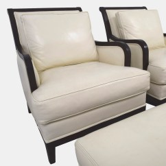 Ivory Leather Office Chair Chairs In Spanish 90 Off Ethan Allen Palma