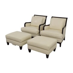 Ethan Allen Recliners Chairs Recliner Office Chair 90 Off Palma Ivory Leather