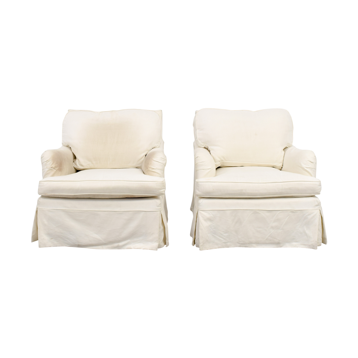 swivel arm chairs black chair covers with gold sash 60 off west elm everett grey shop william farrell upholstered online