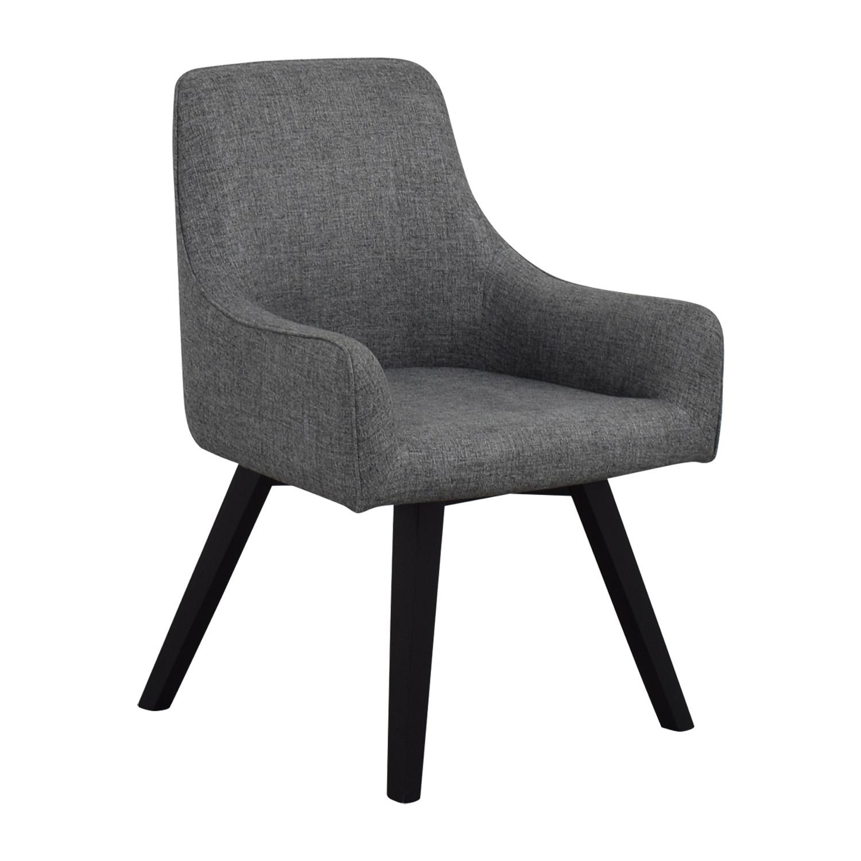 chairs crate and barrel coleman lumbar quatro chair 57 off harvey grey
