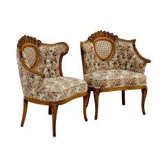 French Provincial Adele Occasional Chair Types Of Covers For Wedding 90 Off Floral With Honeycomb Accent