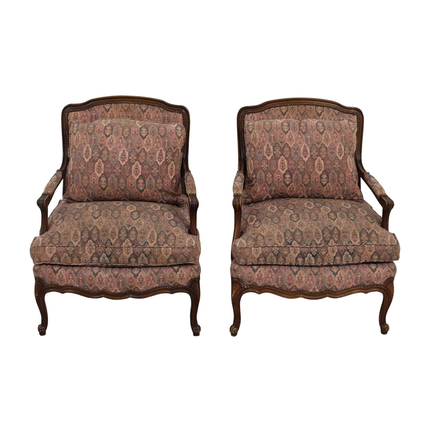 Used Wingback Chairs 87 Off Crate And Barrel Crate And Barrel Tux Armchair