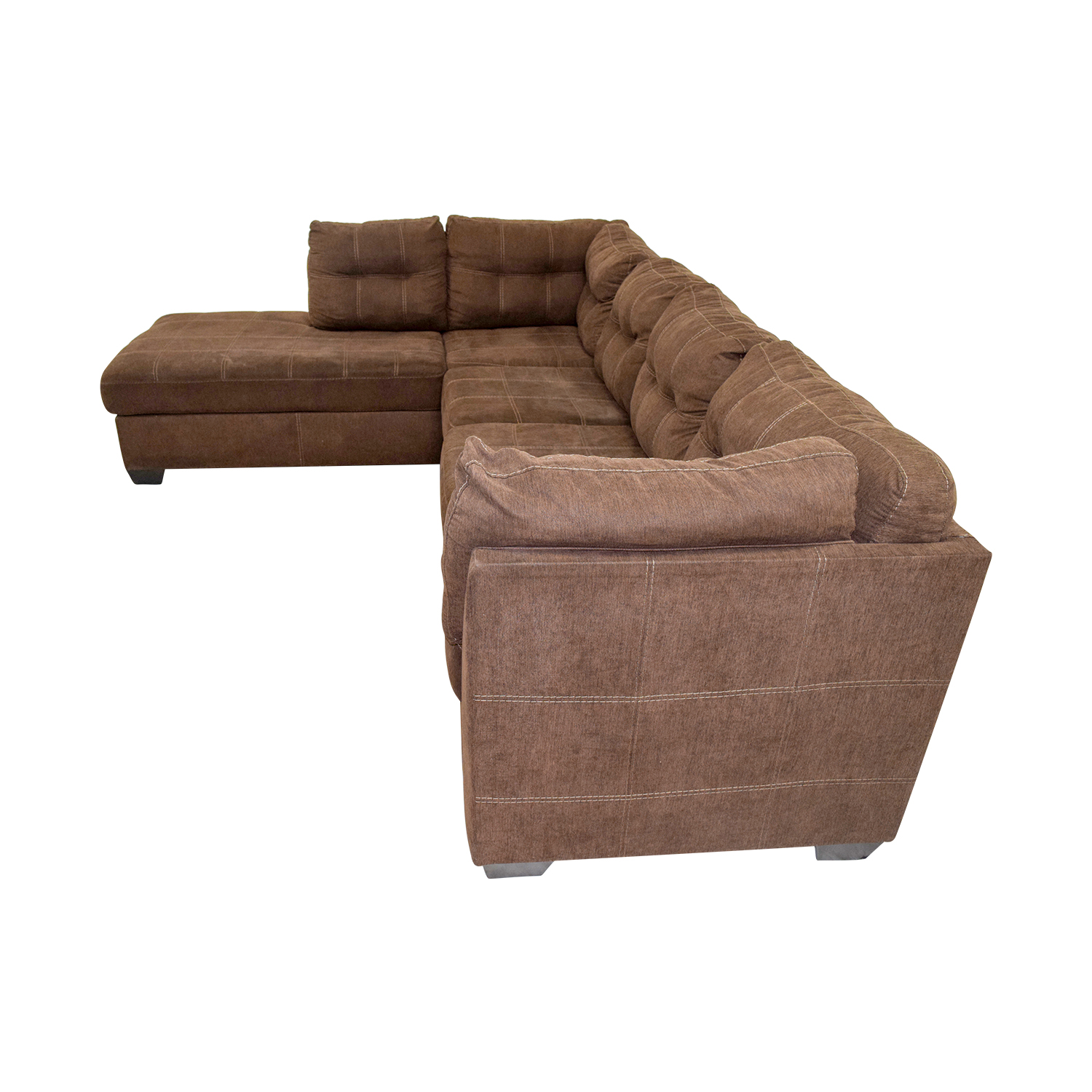 marco cream chaise sofa by factory outlet consumer reports sleeper sofas 64 off brown l shaped sectional