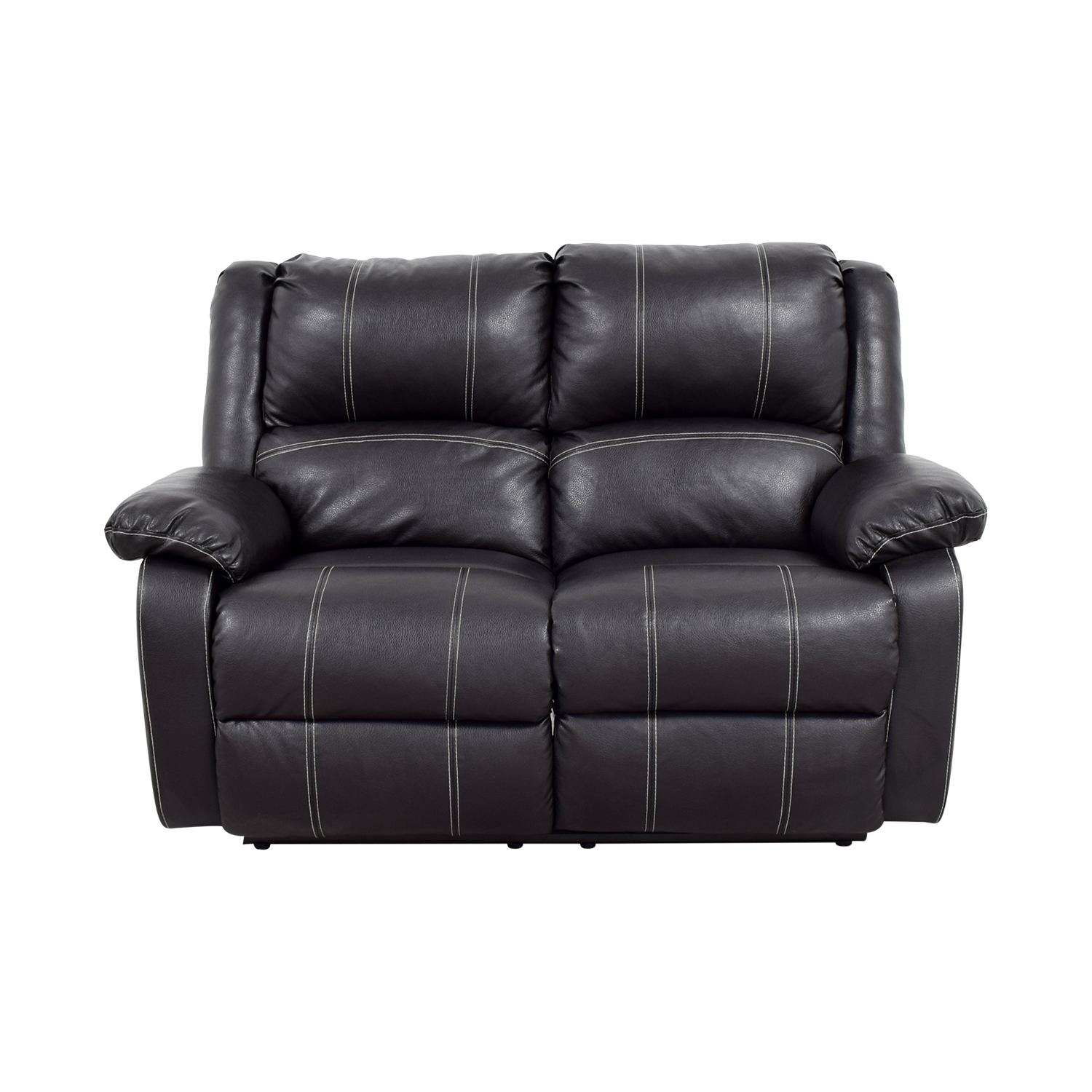 recliner sofa leather black overnight corporation hickory nc reclining awesome home