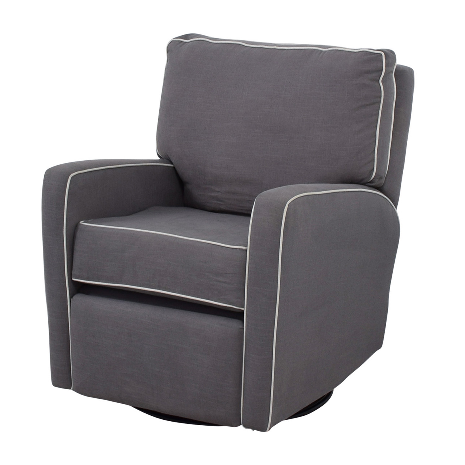 Accent Rocking Chairs 37 Off Grey With White Trim Rocking Chair Chairs