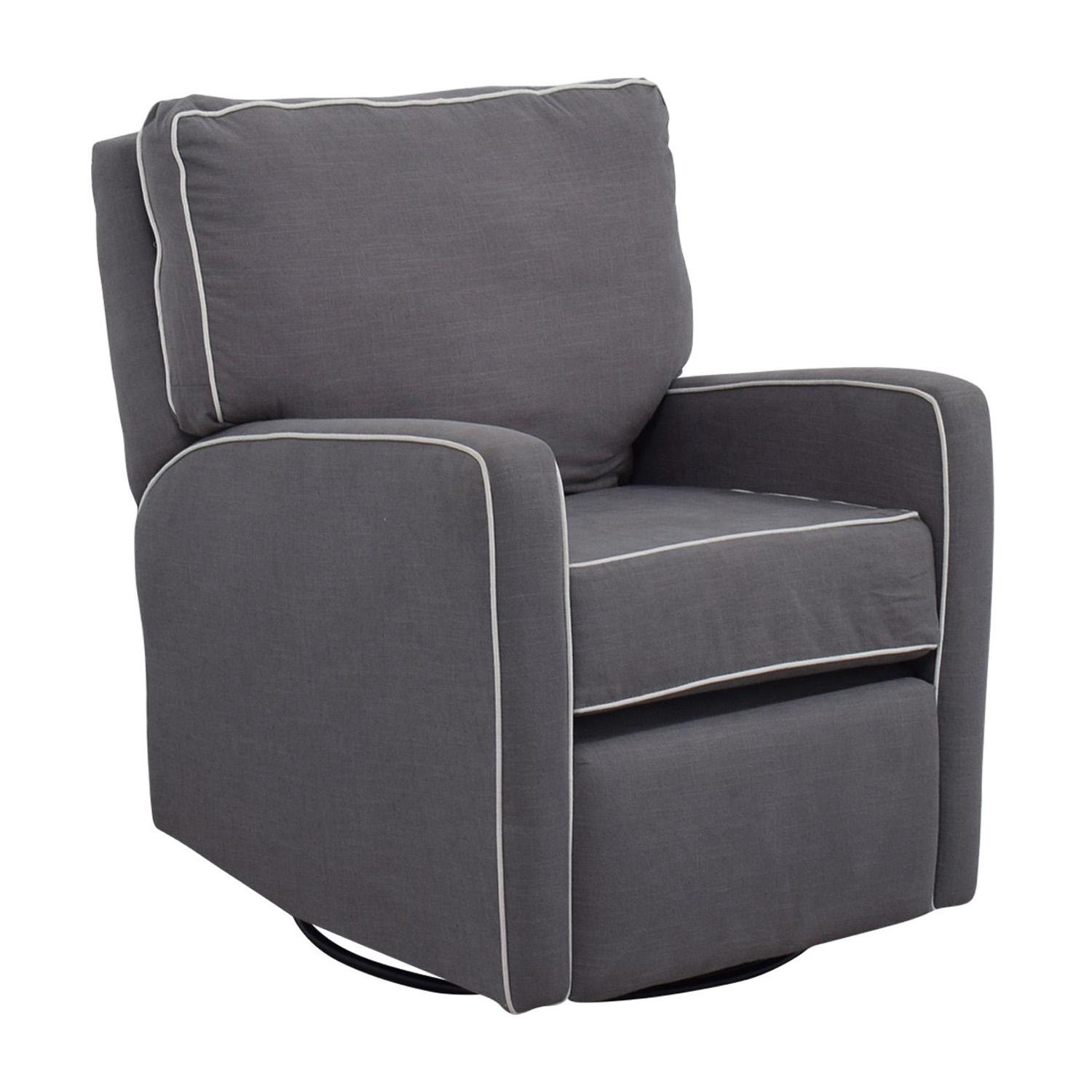 37 OFF  Grey with White Trim Rocking Chair  Chairs