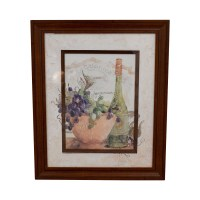 90% OFF - Fortunoff Fortunoff Wine and Grape Wall Art / Decor