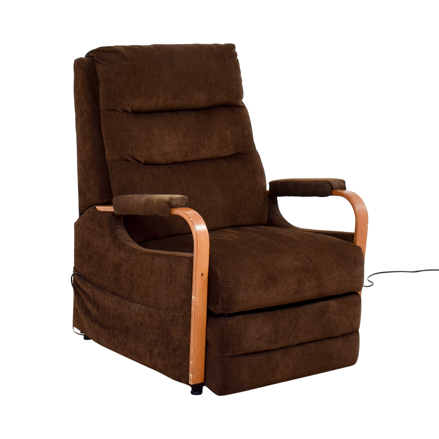 cheap hand chair reupholster office instructions 86 off bob 39s furniture brown remote