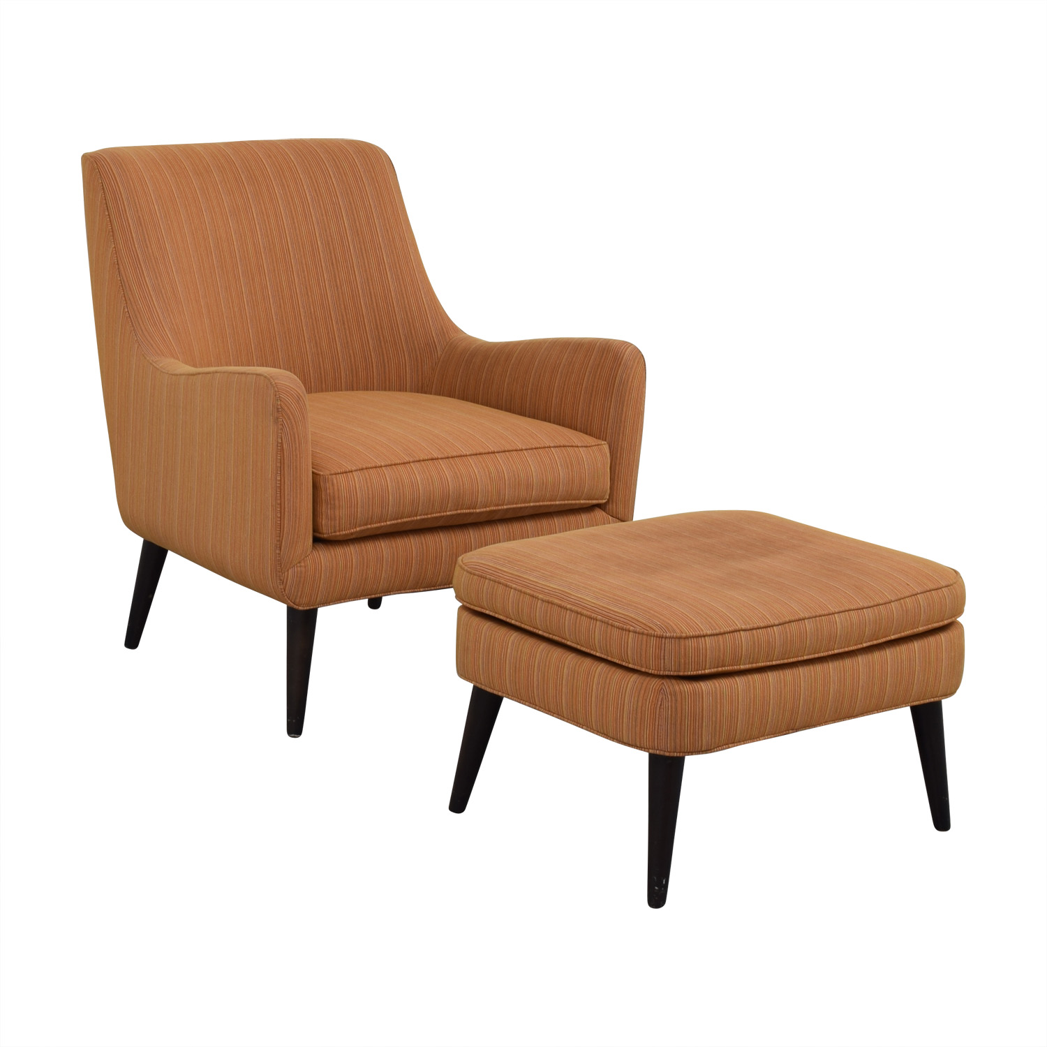 room and board chair cost plus world market chairs 86 off orange striped lounge
