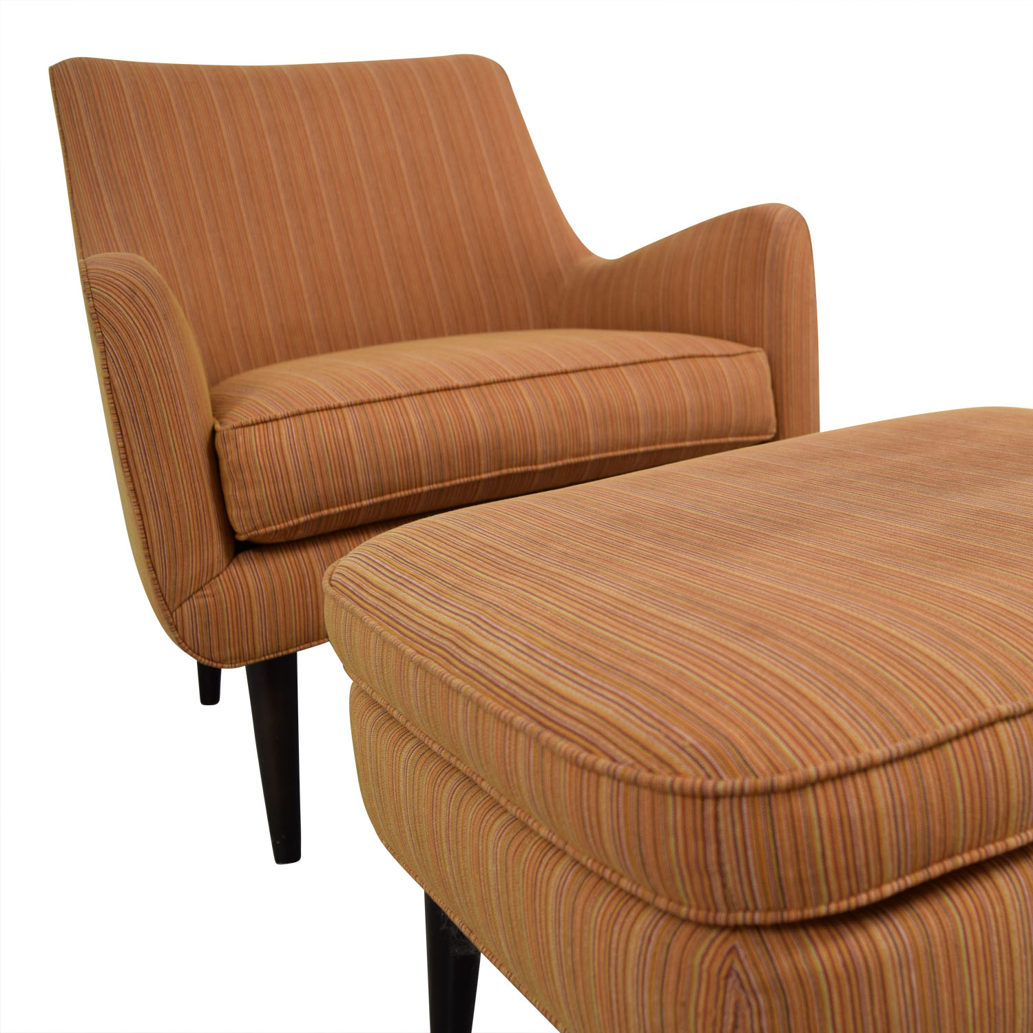 room and board chair slingback patio chairs repair 86 off orange striped lounge