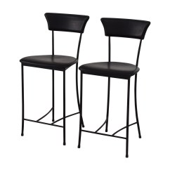 Stool Chair Second Hand Bath Accessories 84 Off Black Leatherette Counter Height Chairs
