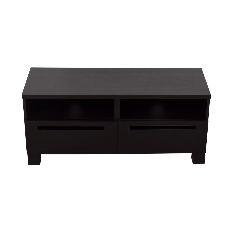 66 OFF  IKEA IKEA Brown Wood Media Cabinet  Storage