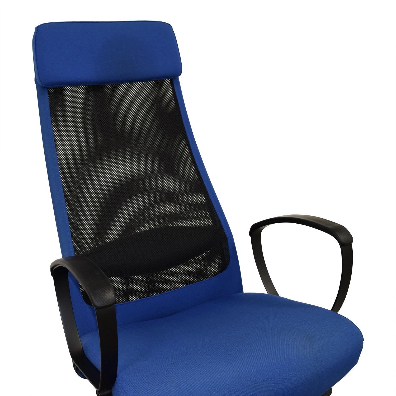 82 OFF  IKEA IKEA Markus Blue Swivel Chair  Chairs