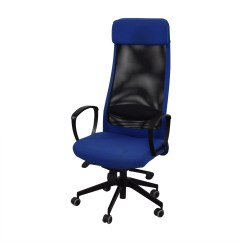 Revolving Chair Second Hand Covers Party 82 Off Ikea Markus Blue Swivel Chairs