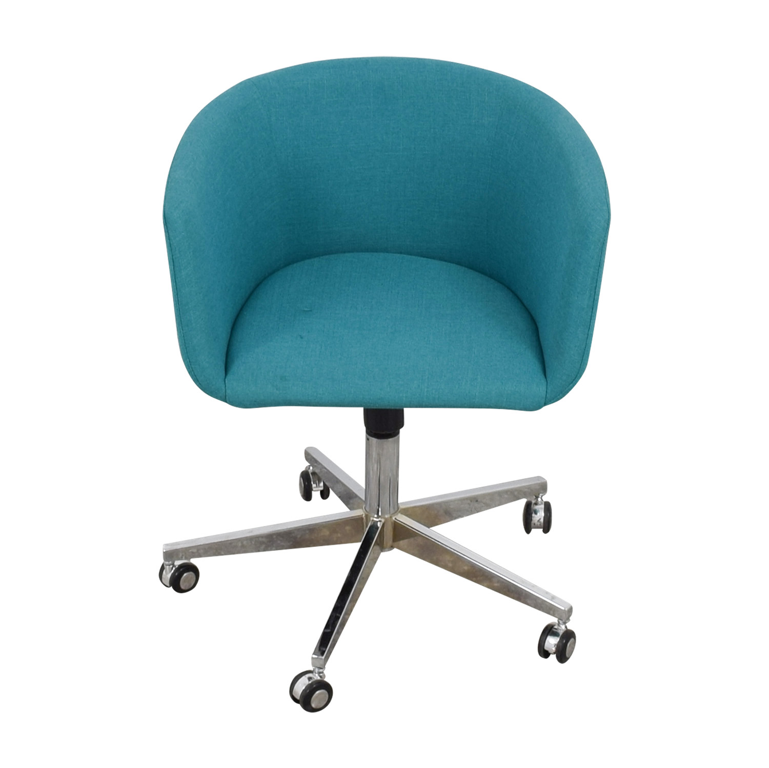 teal computer chair upholstered dining room chairs with casters 37 off cb2 desk castors