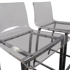 Clear Acrylic Chair Small Folding Beach Chairs Uk 65 Off Cb2 Bar Stools