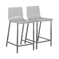 65% OFF - CB2 CB2 Clear Acrylic Bar Stools / Chairs