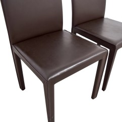 Chocolate Leather Dining Chairs What Is An Ergonomic Chair 90 Off Maria Yee Mondo Brown