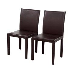 Chocolate Leather Dining Chairs Folding With Footrest 90 Off Maria Yee Mondo Brown