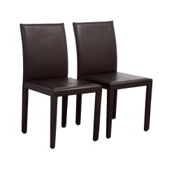 Chocolate Leather Dining Chairs Correct Posture Kneeling Chair 90 Off Maria Yee Mondo Brown