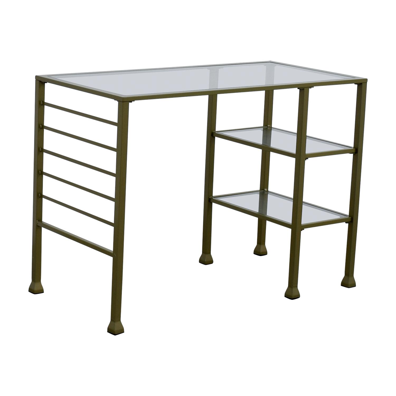 wayfair desk chairs chair oz design 86 off gold matte writing tables