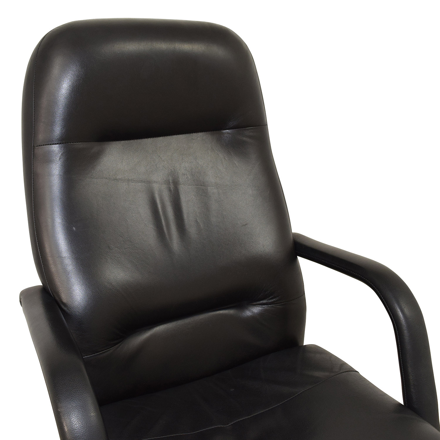 77 OFF  Black Leather Conference Room Chair  Chairs