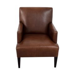 Crate And Barrel Armless Chair Adec Performer 41 Off Brown Leather Arm Chairs Shop Accent