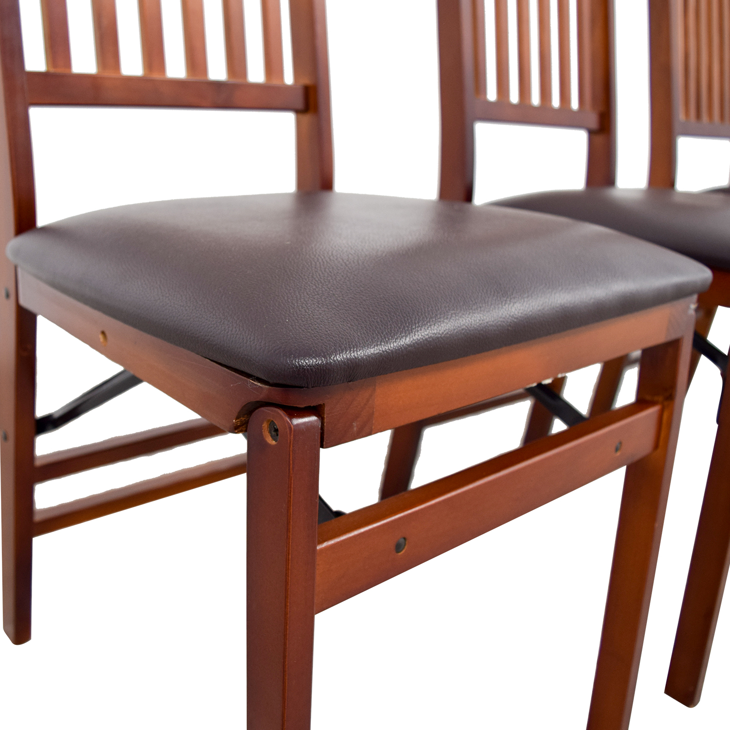 brown wooden folding chairs matrix fishing chair 40 off bed bath and beyond