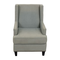 One Kings Lane Chairs Reading Chair 90 Off Blue Upholstered