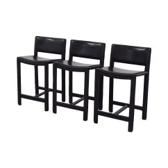Room And Board Chair Metal Cafe 90 Off Sava Black Leather Bar