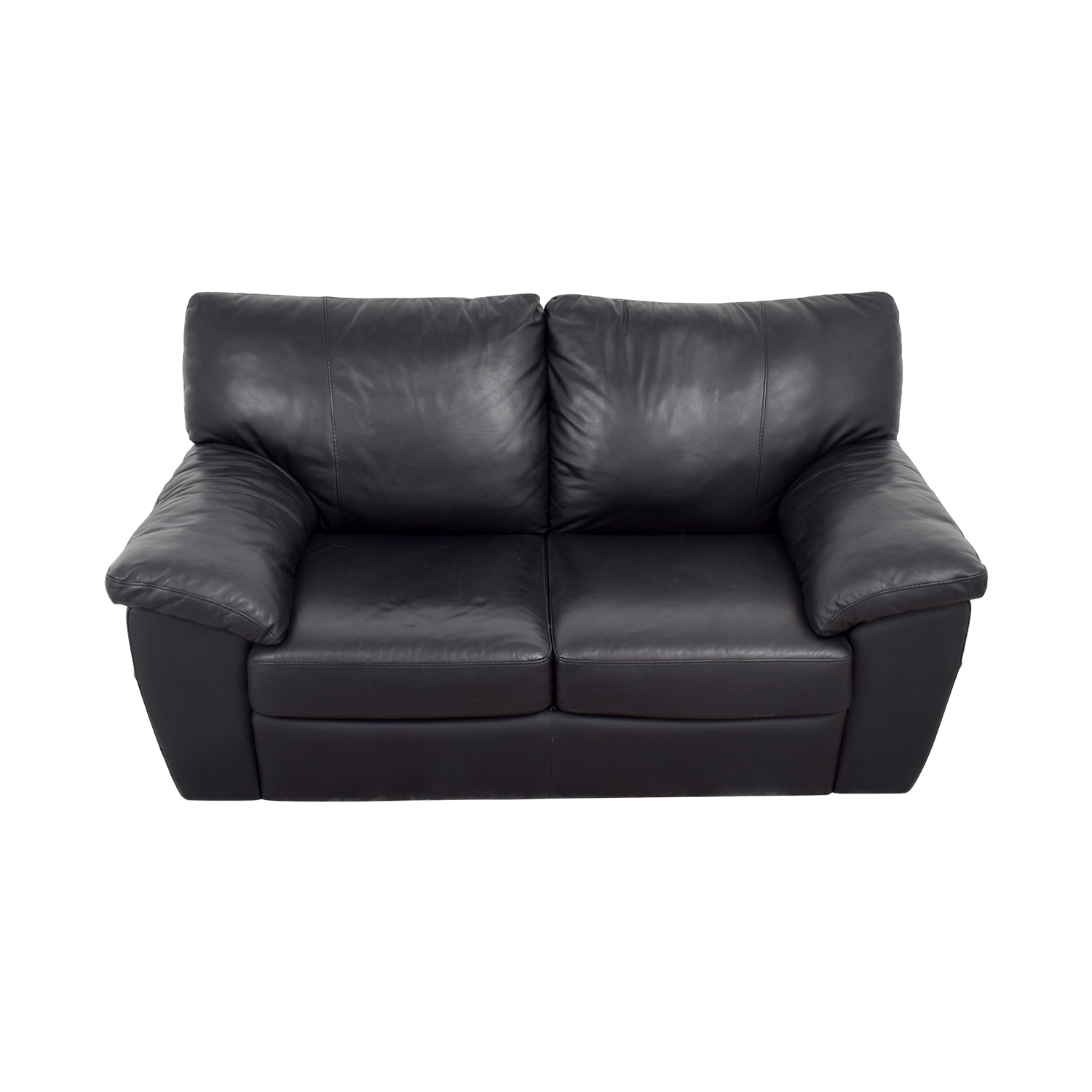 black leather chair ikea boling company 81 off two cushion couch sofas