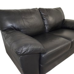 Black Leather Chair Ikea Material To Recover Dining Chairs Sofa Remarkable Detail