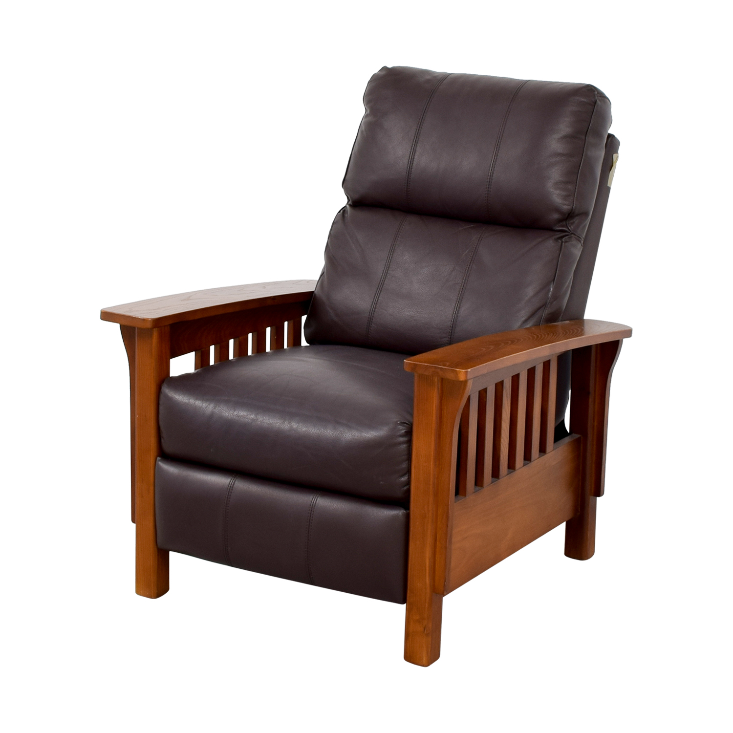 Macys Leather Chair 76 Off Macy 39s Macy 39s Harrison Brown Leather Pushback