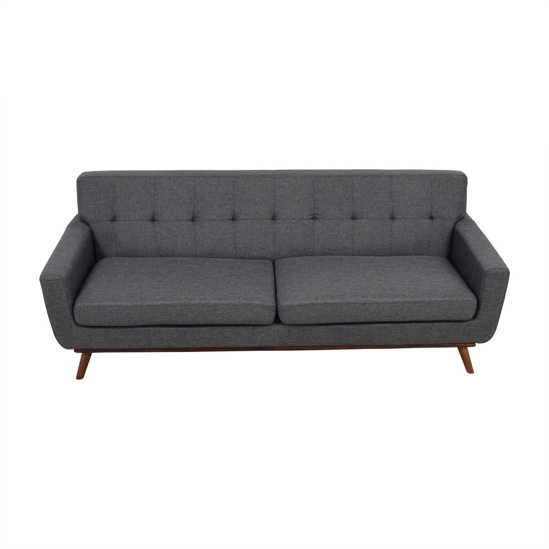 charcoal gray tufted sofa minotti allen preis 71 off jennifer convertibles