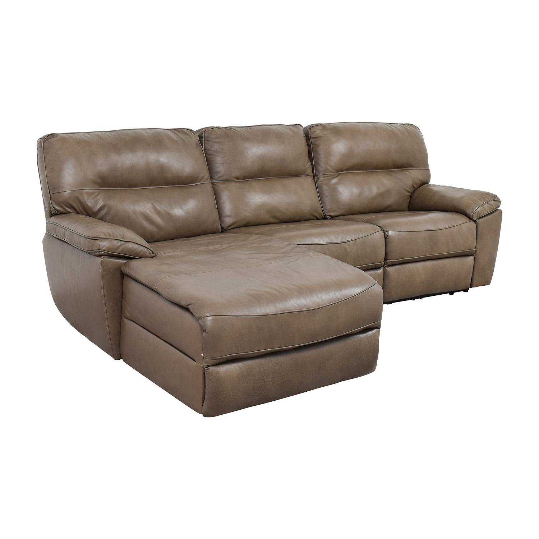 macys leather sofa with chaise flexsteel sofas for sale 76 off macy 39s gunmetal grey