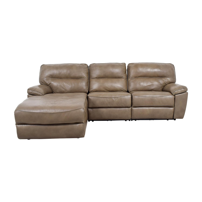 macys leather sofa with chaise new cushions dfs macy s lounge baci living room