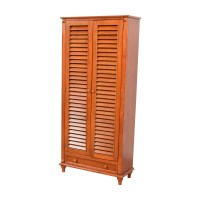 55% OFF - Tall Louvered Door Cabinet / Storage