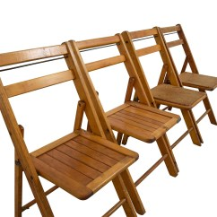Brown Wooden Folding Chairs Chair Lift For Elderly 68 Off Rustic Wood