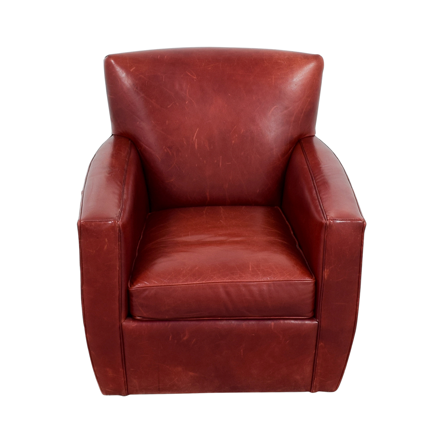 leather swivel barrel chair anti slip mat accent chairs used for sale