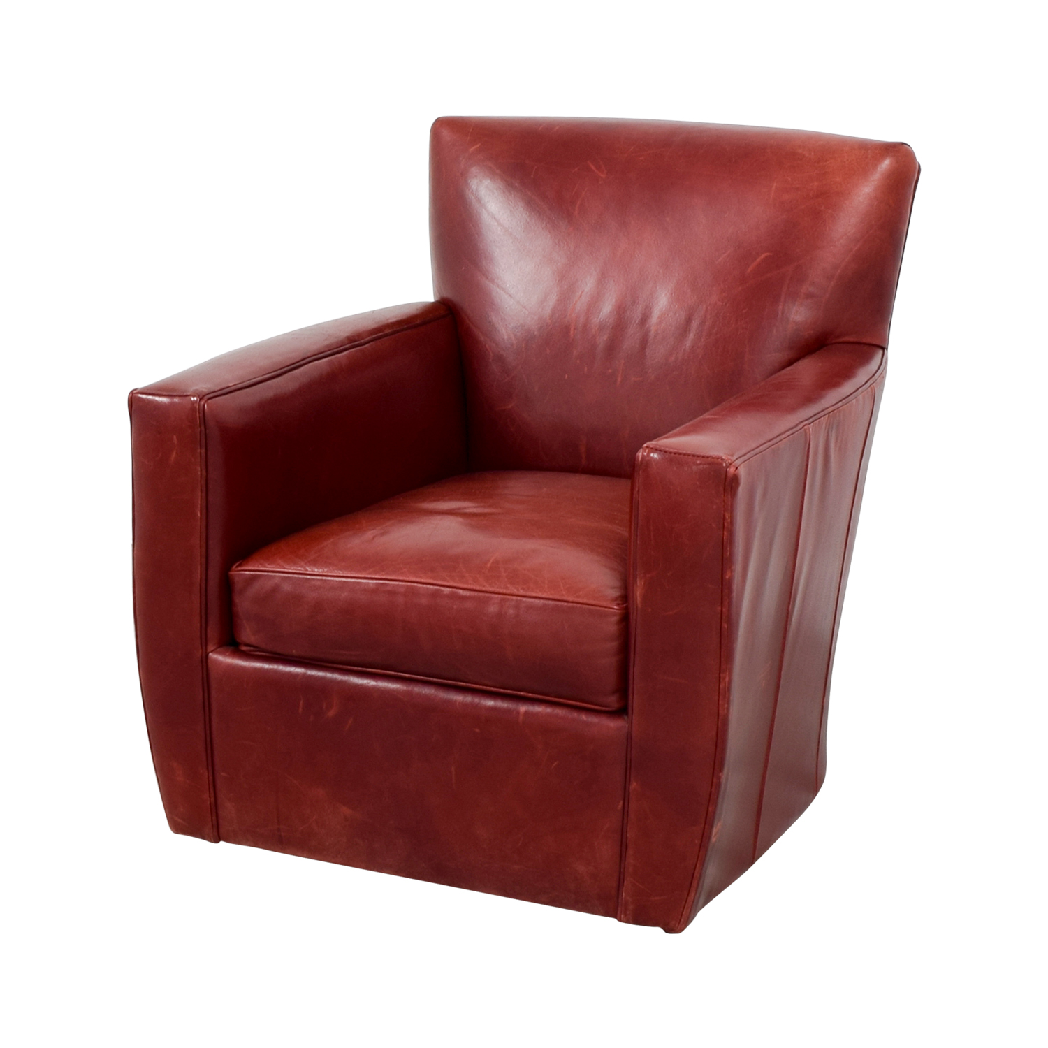 79 OFF  Crate  Barrel Crate  Barrel Leather Swivel