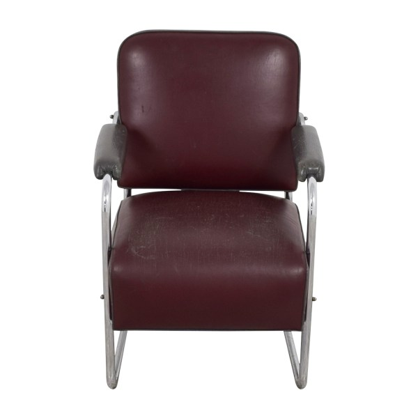 Vintage Art Deco Leather Chairs
