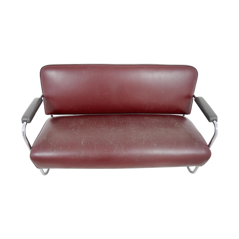 85 OFF  Art Deco Leather Sofa  Sofas
