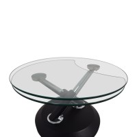 90% OFF - West Elm West Elm Glass Swivel Coffee Table / Tables