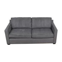 Davis Leather Twin Sleeper Sofa Rory Microfiber 44 Off Crate Barrel Grey Sofas Thesofa